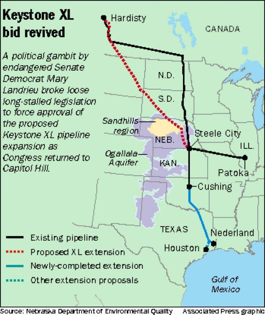 Louisiana Leaders Praise Trump's Action To Advance Keystone Xl - Keystone Pipeline Map Texas