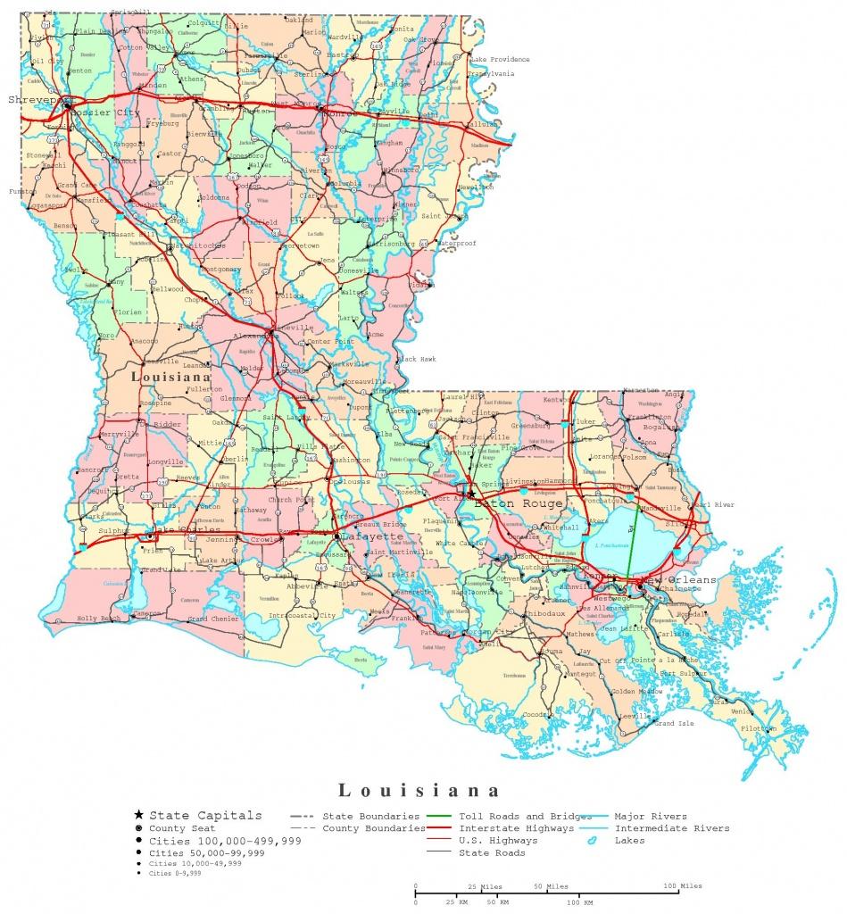 Louisiana Printable Map - Printable Map Of Louisiana