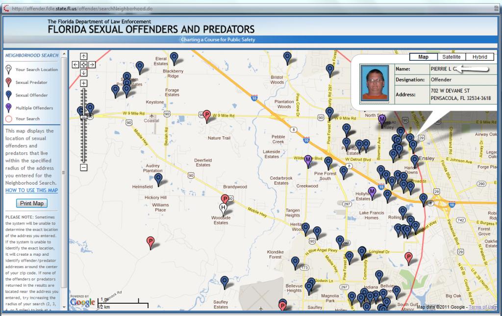 Love To Live In Pensacola, Florida: Moving To Pensacola? Read This! - Sexual Predator Map Florida
