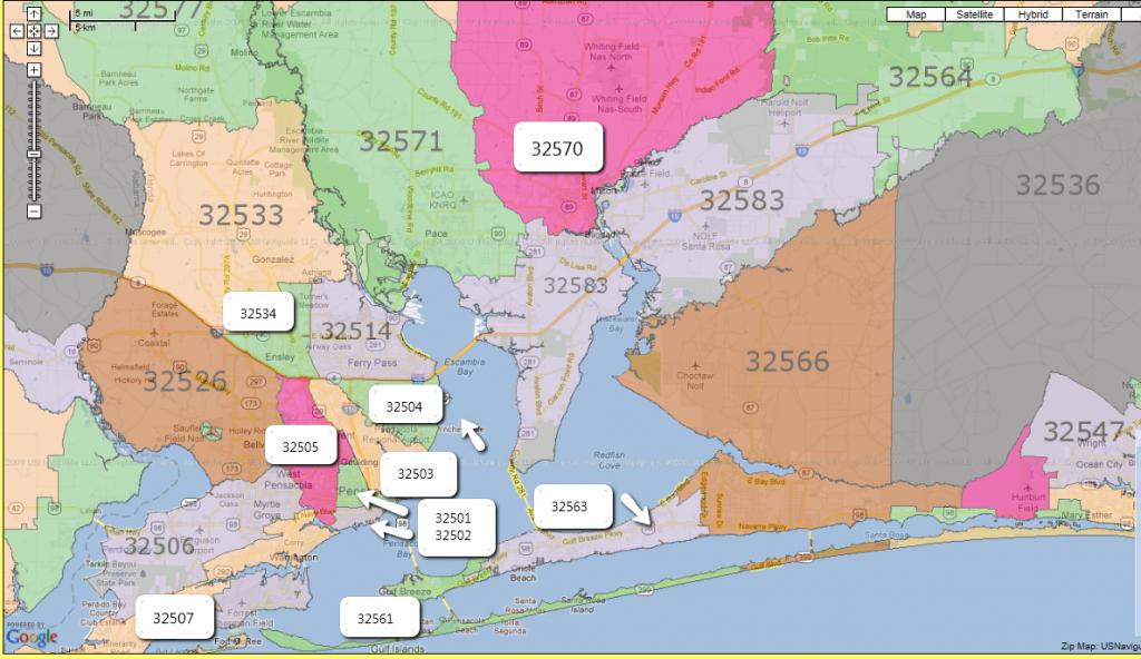 Love To Live In Pensacola, Florida: Zip Codes: Pensacola, Fl And - Map Of Escambia County Florida