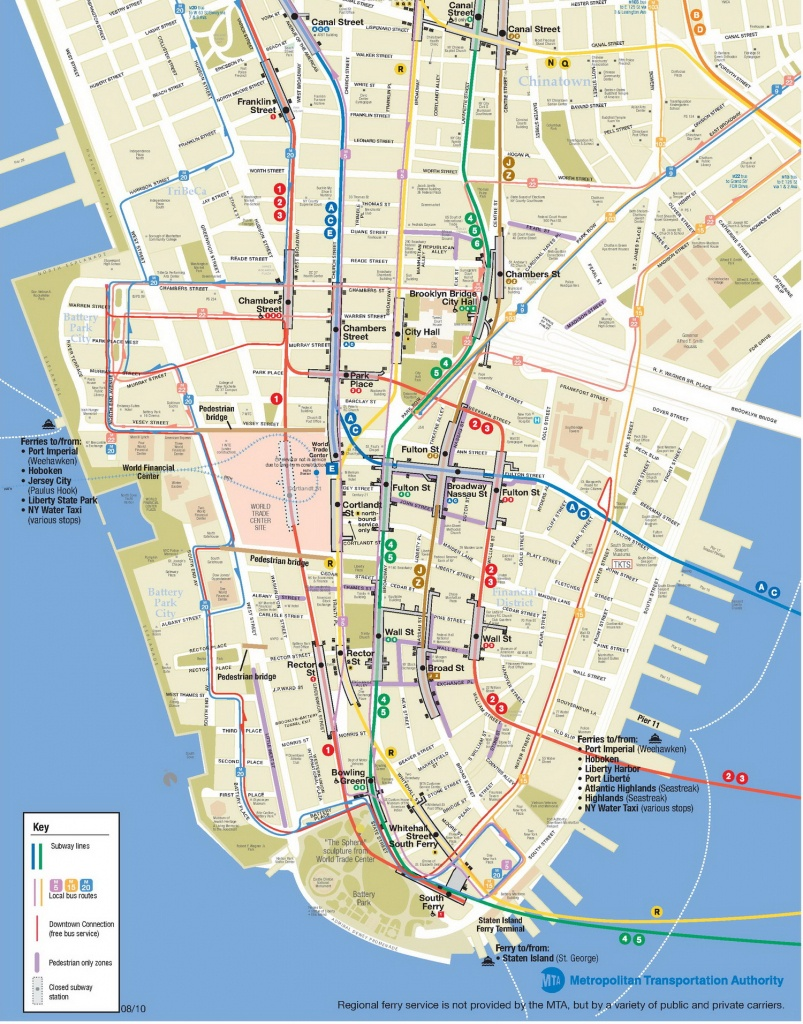 Lower Manhattan Map - Go! Nyc Tourism Guide - New York Printable Map Pdf