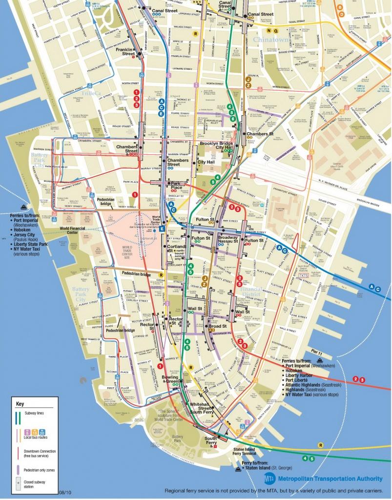 Lower Manhattan Map - Go! Nyc Tourism Guide - Printable Map Of Manhattan Pdf
