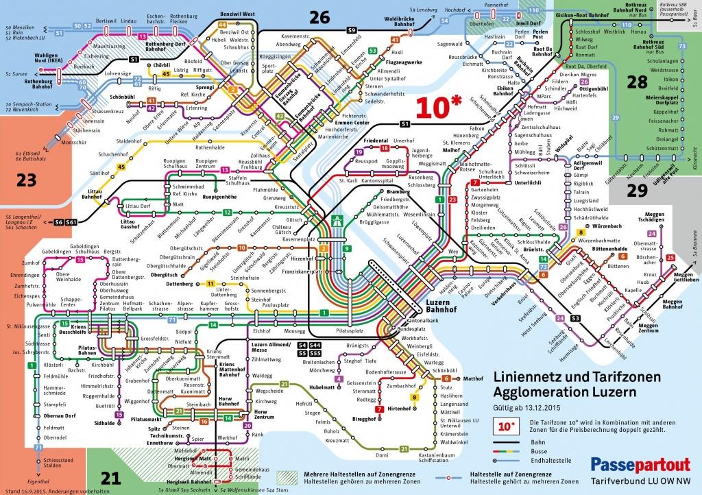 Lucerne City Maps   Switzerland   Maps Of Lucerne (Luzern) - Printable Tourist Map Of Lucerne
