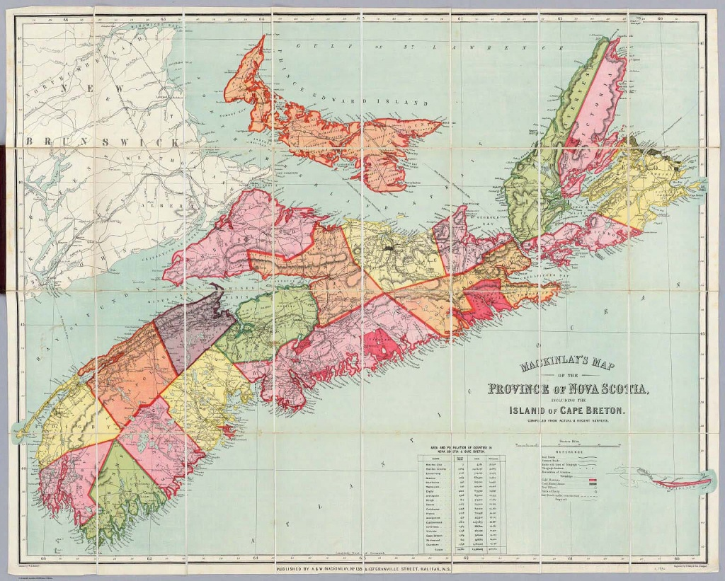 Mackinlay's Map Of The Province Of Nova Scotia, Including The Island - Printable Map Of Cape Breton Island