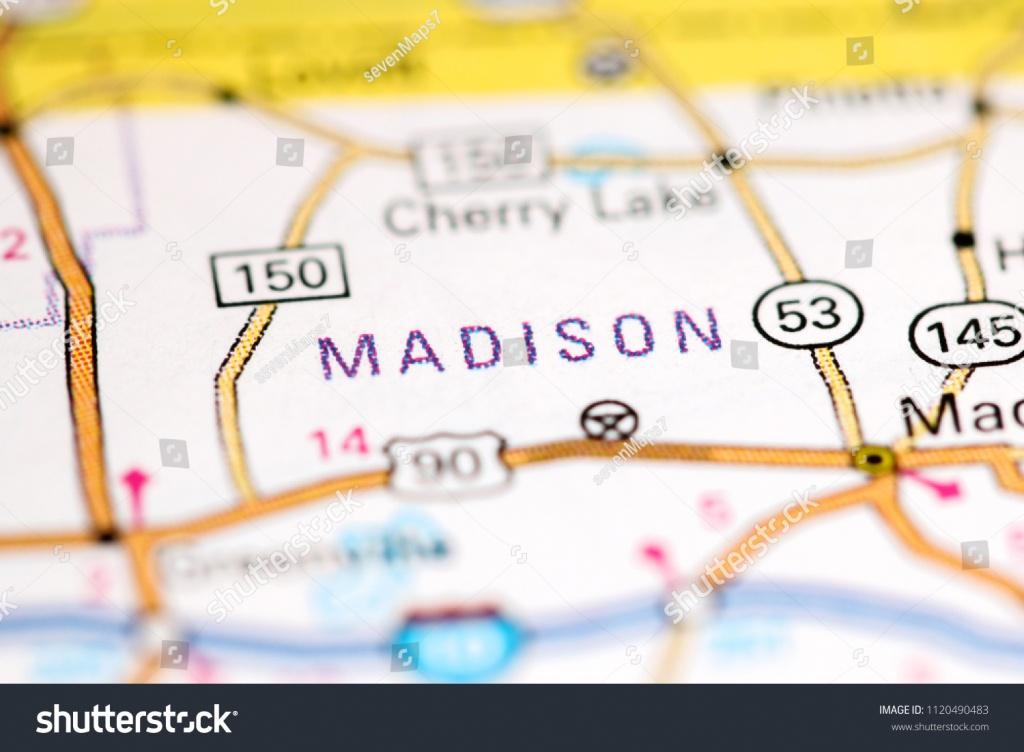 Madison Florida Usa On Map Stock Photo (Edit Now) 1120490483 - Madison Florida Map