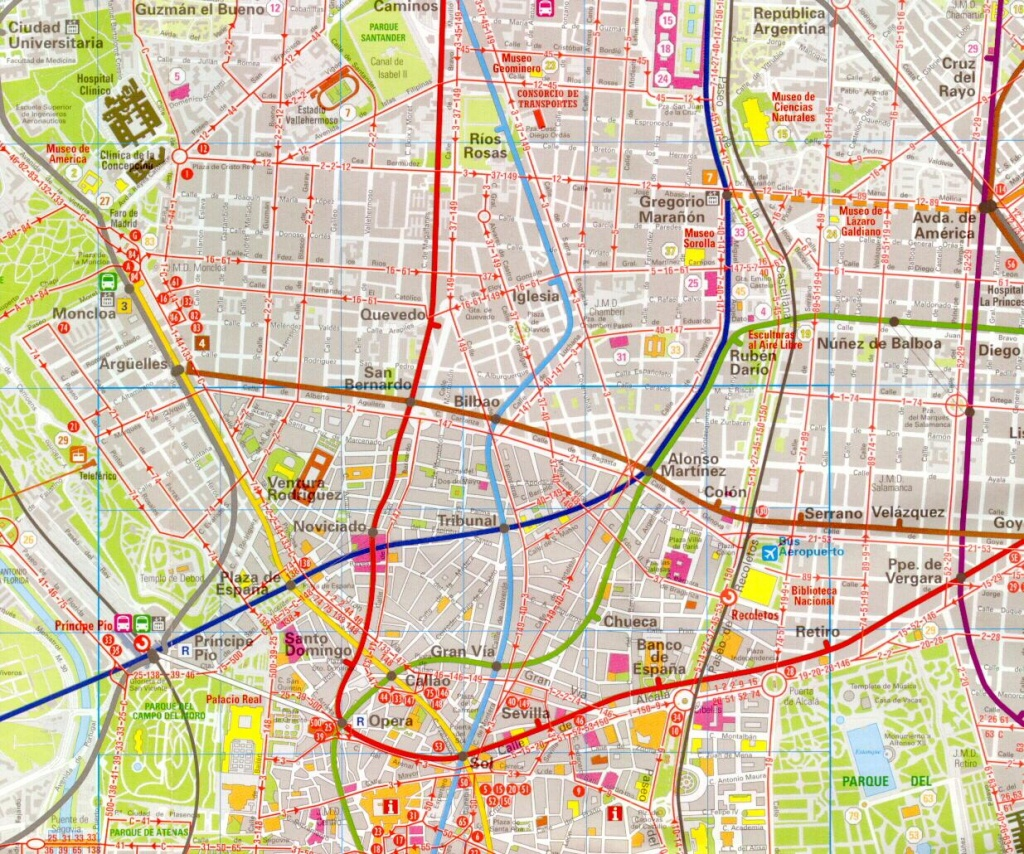 Madrid Map - Detailed City And Metro Maps Of Madrid For Download - Printable Map Of Madrid
