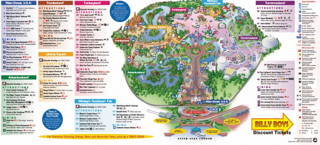 Magic Kingdom Disney World Map Pdf Save Cute Walt Park Maps 8 - Walt Disney World Park Maps Printable