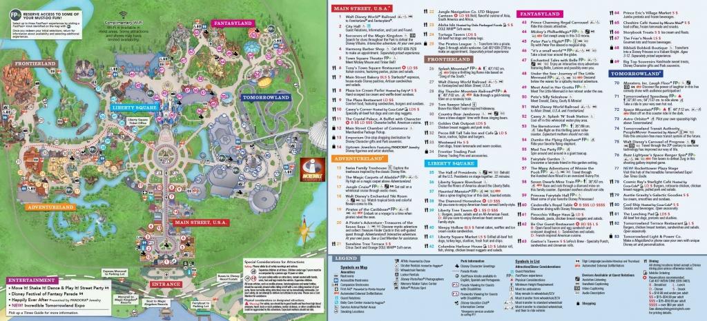 Magic Kingdom Park Map | Disney In 2019 | Disney World Map, Disney - Disney World Map 2017 Printable