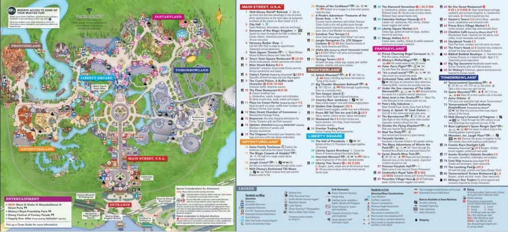 Magic Kingdom | Wdw Prep School - Printable Magic Kingdom Map