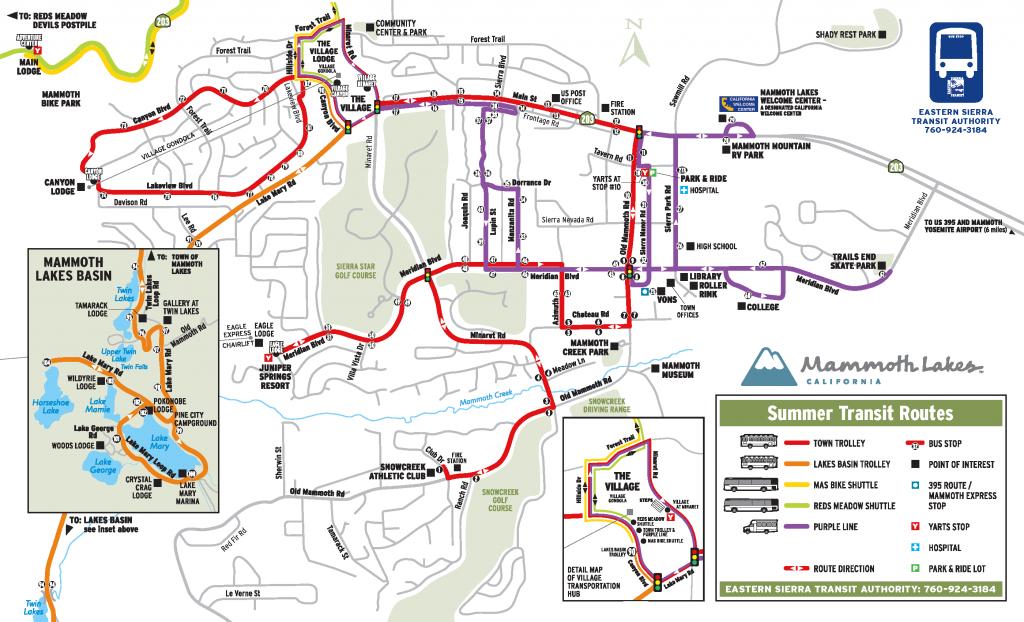 Mammoth Town Trolley – Eastern Sierra Transit Authority - Mammoth California Map