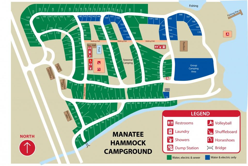 Manatee Hammock Park - Florida Tent Camping Map