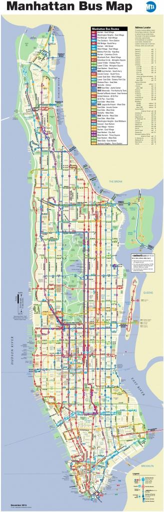 Manhattan Bus Map - Printable Manhattan Bus Map
