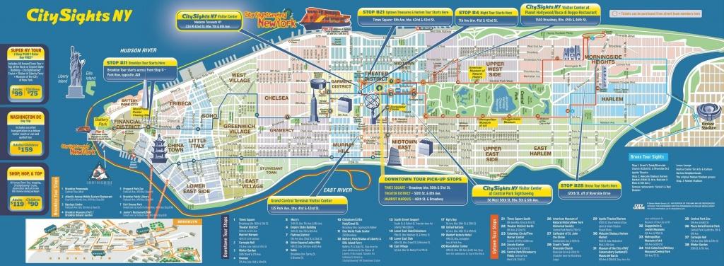 Manhattan Tourist Attractions Map Download Manhattan Map New York - Manhattan Sightseeing Map Printable