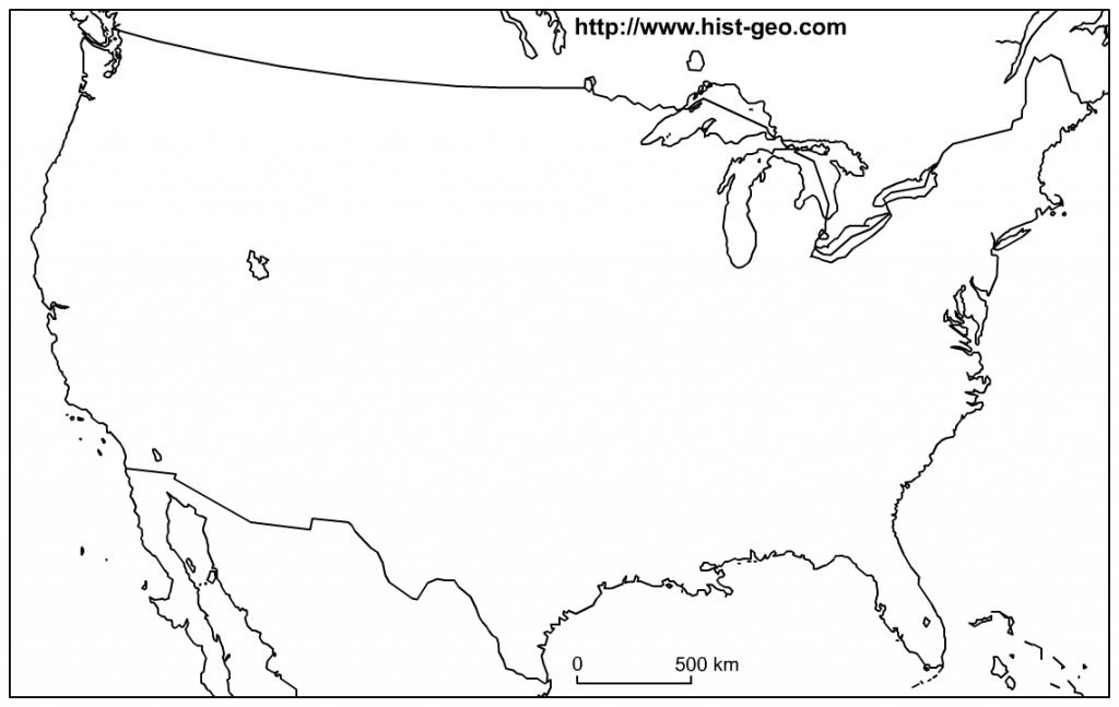 Map 2016: Printable Usa Map Blank - Printable Usa Map Blank