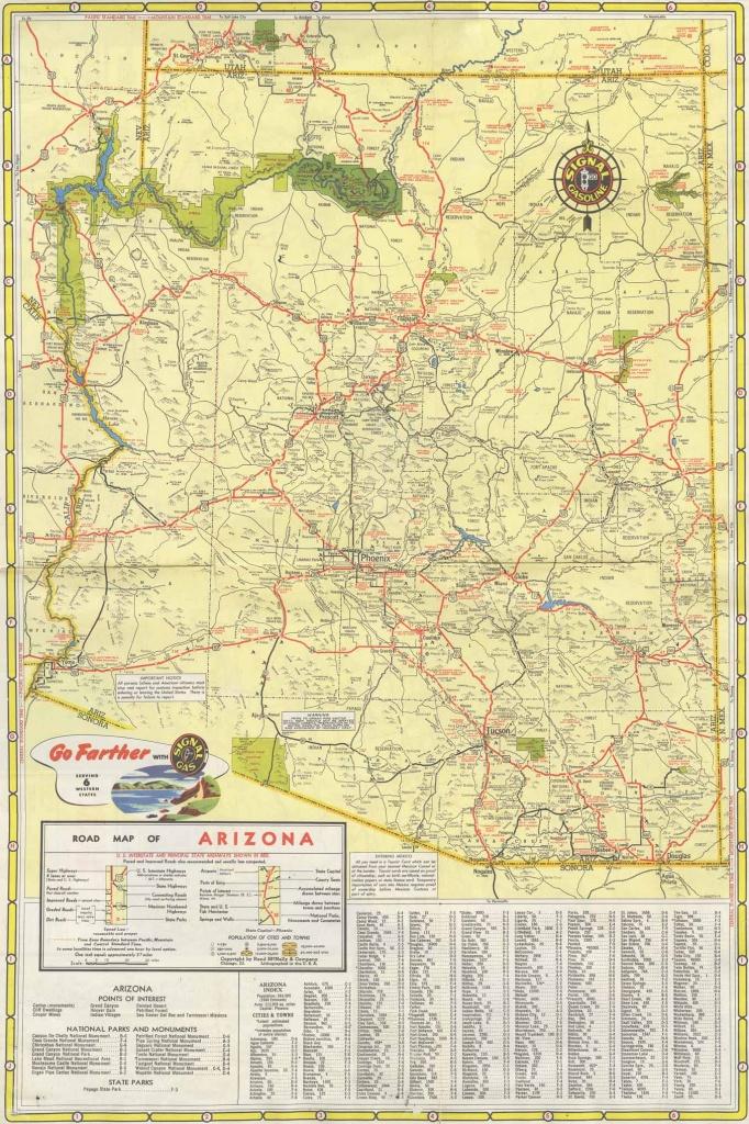 Map 270 -- Signal Highway Map California Arizona Nevada - California Nevada Arizona Map
