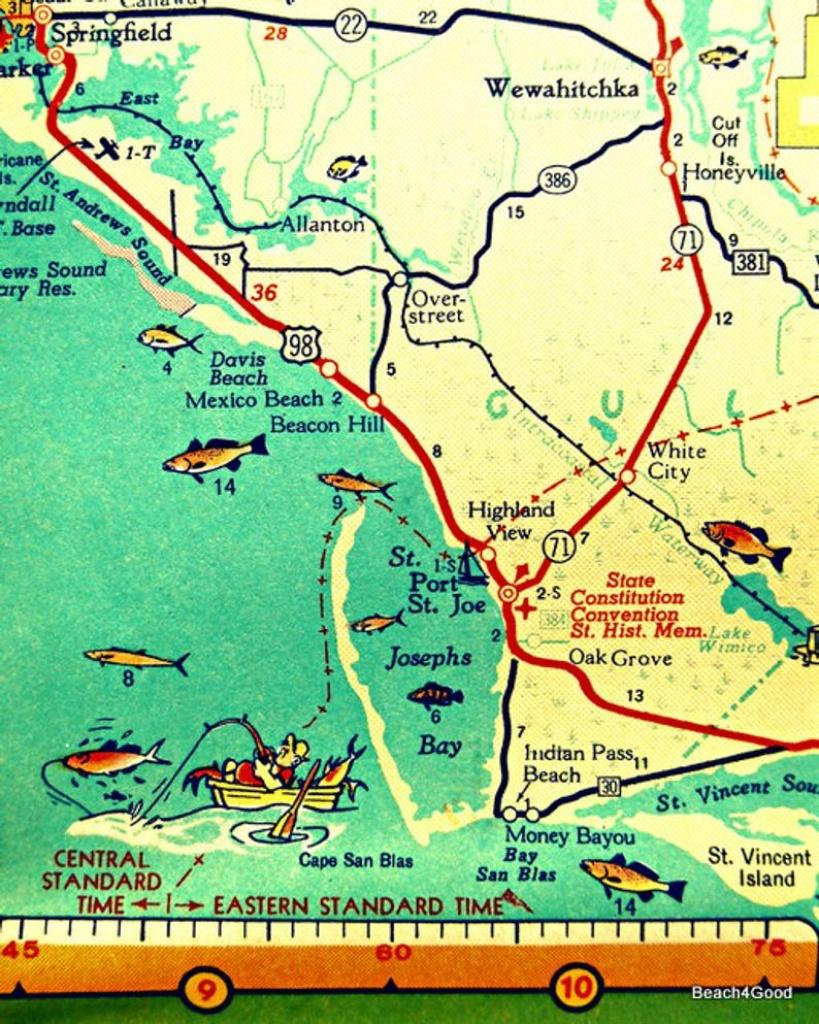 Map Art 8X10 Port St Joe Mexico Beach Florida Beach Wall Art | Etsy - Cape San Blas Florida Map