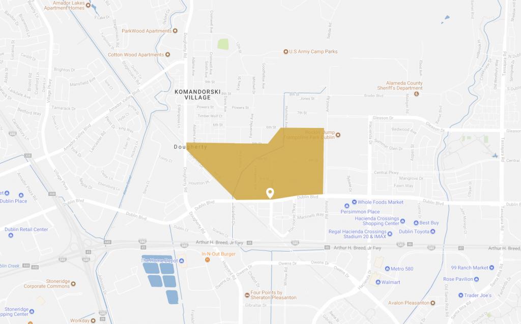 Map-Boulevard - Boulevard Dublin - Map Of Dublin California Area
