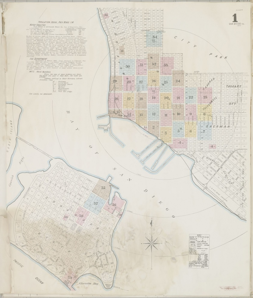 Map, California, San Diego County | Library Of Congress - Thomas Guide Southern California Arterial Map