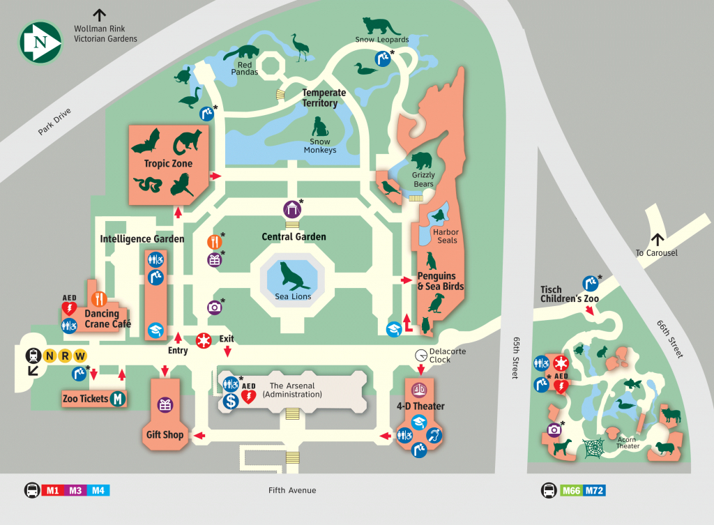 Map - Central Park Zoo - Printable Map Of Central Park