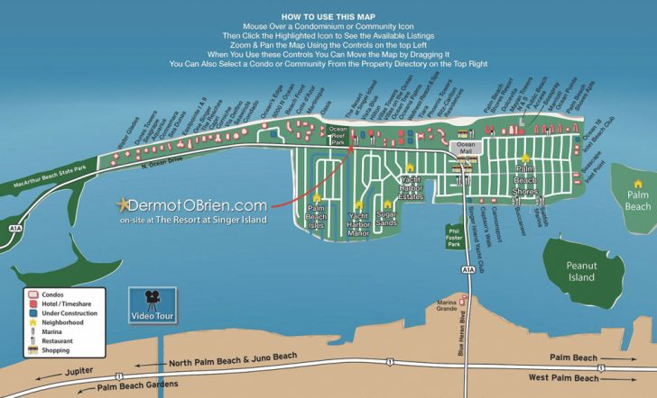 Singer Island Florida Map