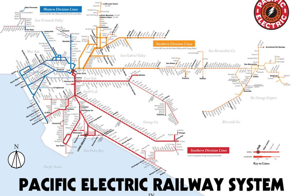 Map Details La's Red Car Streetcar Lines - Curbed La - California Metro Map