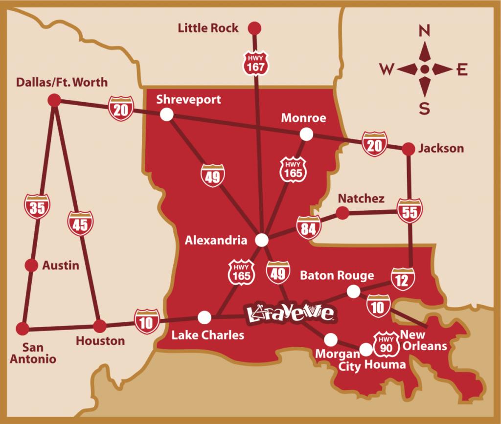 Map & Directions | Lafayette, La Trip Planner - Printable Map Of Lafayette La