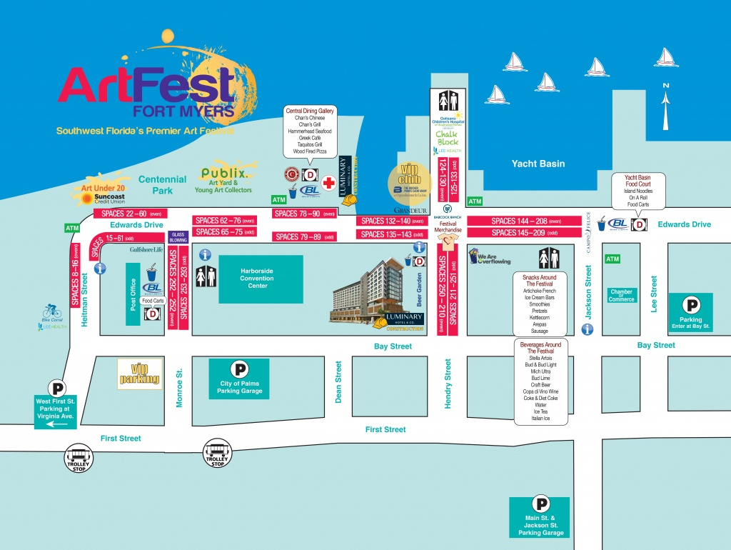 Map, Directions, Parking - Street Map Of Fort Myers Florida