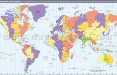 Map In Large Print Of The World Inpinks | Free Printable World Time   Printable Time Zone Map For Kids