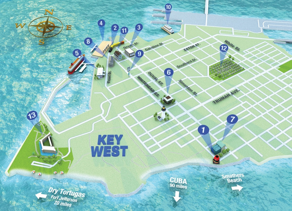 Map It Out Getting Around Key West | Key West Florida Weekly | Key - Street Map Of Key West Florida