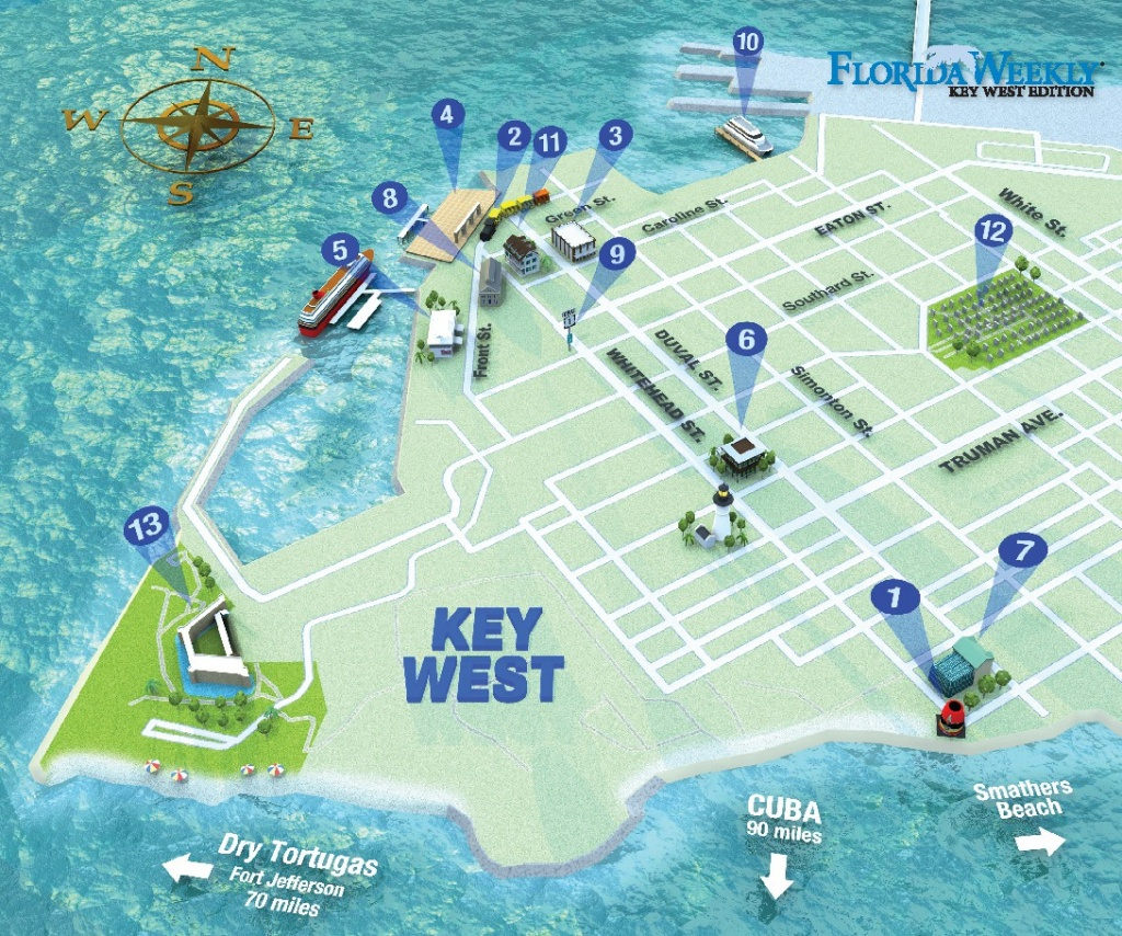 Map It Out   Key West Florida Weekly   Key West News - Map Of Duval Street Key West Florida
