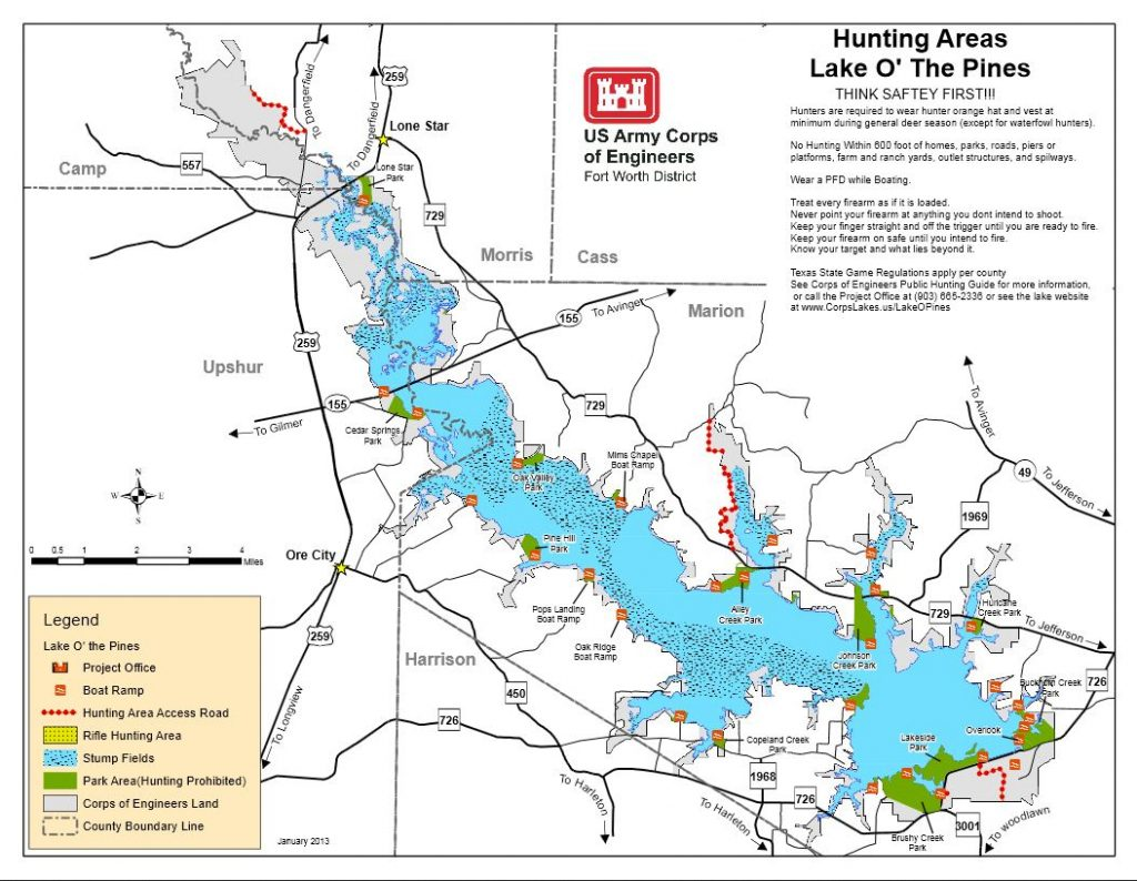 Map | Lake O' The Pines - Corps Of Engineers Campgrounds ...
