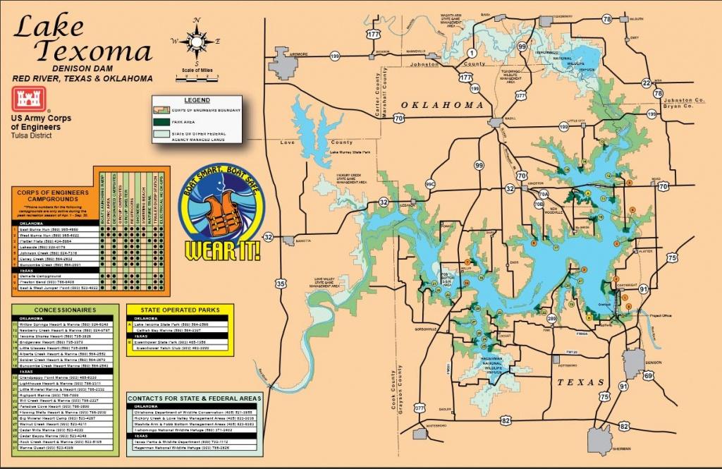 Map | Lake Texoma - Texas Lake Maps Fishing