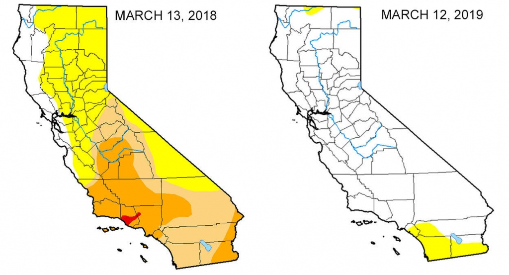 Map: Look At The Drought Difference In California From One Year Ago - California Traffic Conditions Map