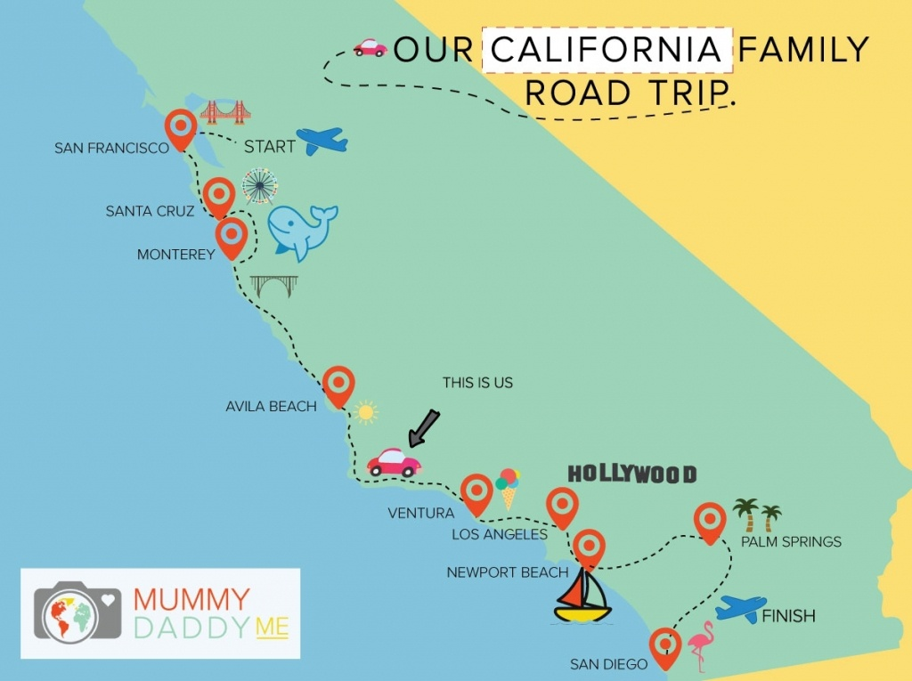 Map Los Angeles To Monterey Ca – Map Of Usa District - Monterey Beach California Map