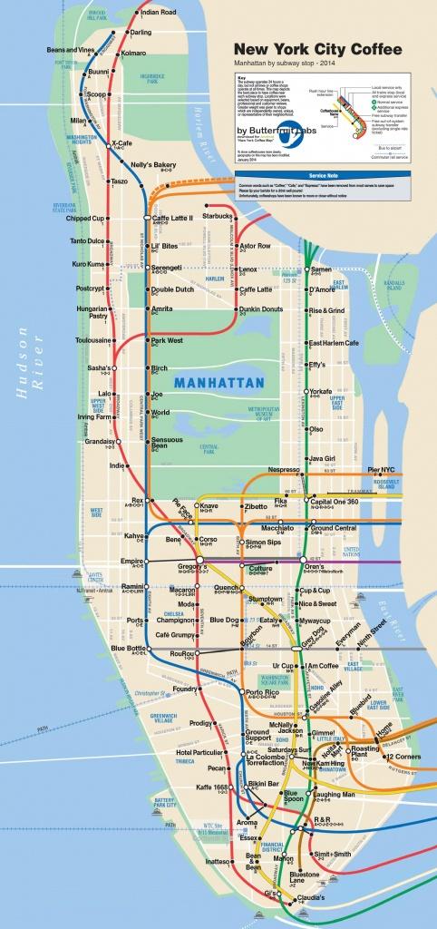 Map Manhattan Subway Nyc Subway Map Free Manhattan Maps Ride The - Manhattan Subway Map Printable