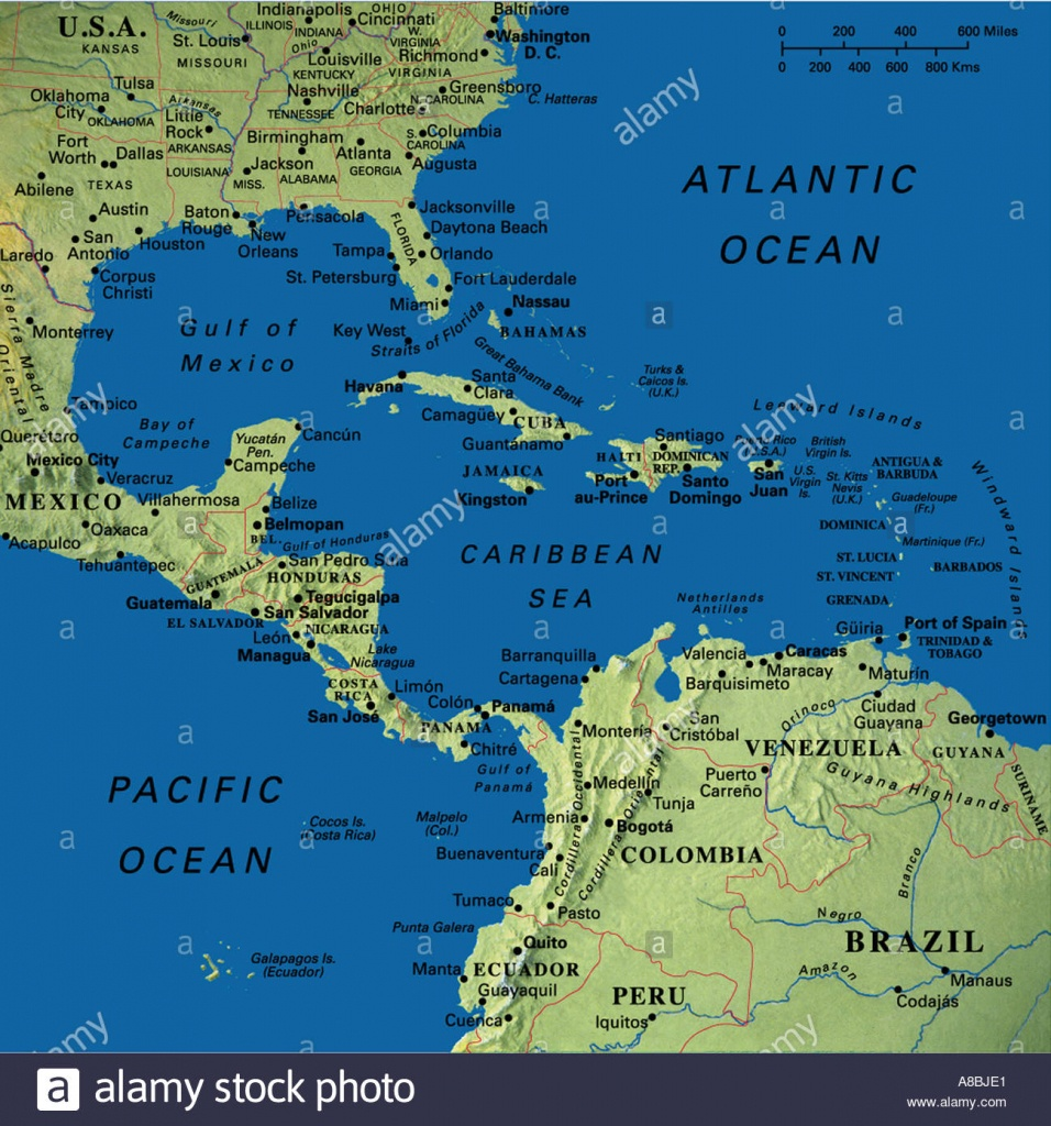 Map Maps Usa Florida Canada Mexico Caribbean Cuba South America - Map Of Florida And Caribbean
