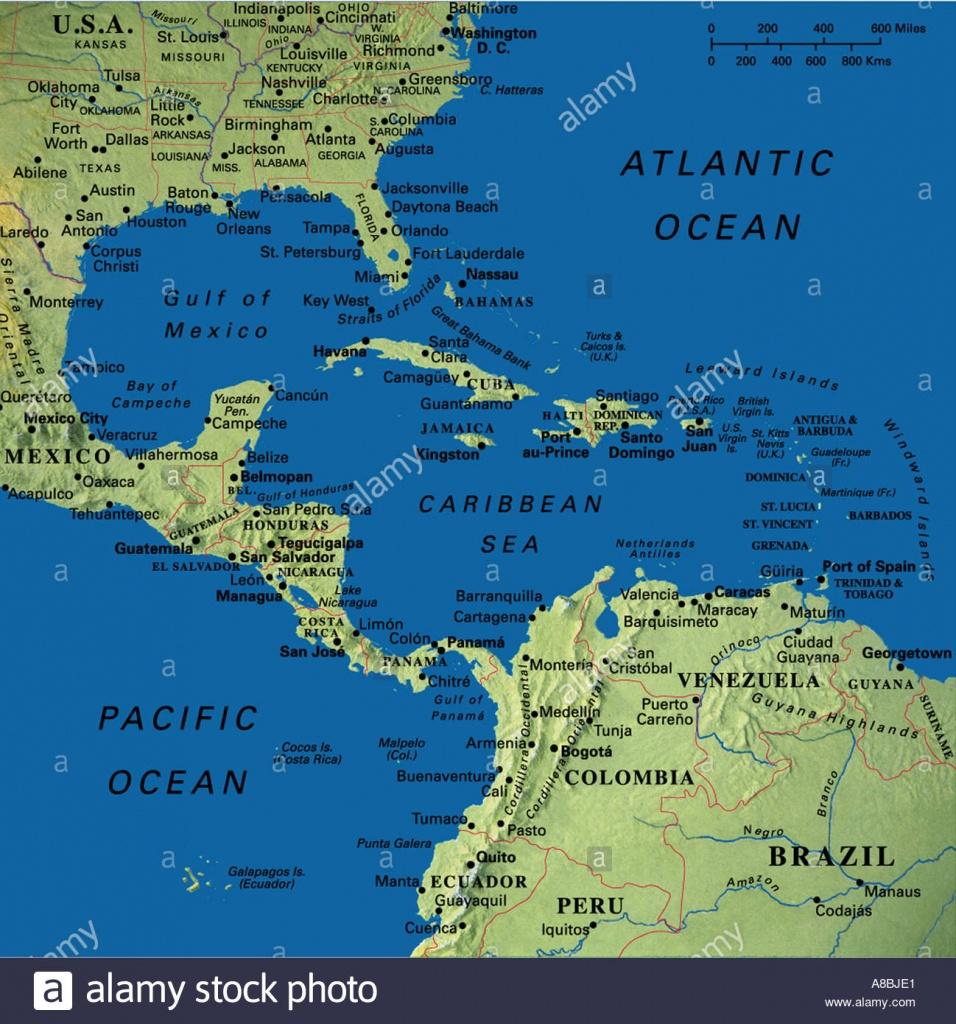 Map Maps Usa Florida Canada Mexico Caribbean Cuba South America - Mexico Florida Map