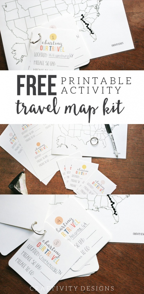 Map My Trip For Kids | Charting Travel With A Free Map Template - Printable Road Maps For Kids