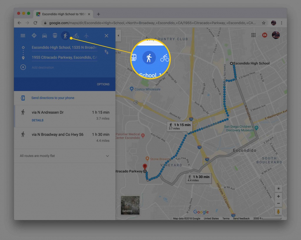Map My Walk! Get Walking Directions With Google Maps - Printable Driving Directions Google Maps
