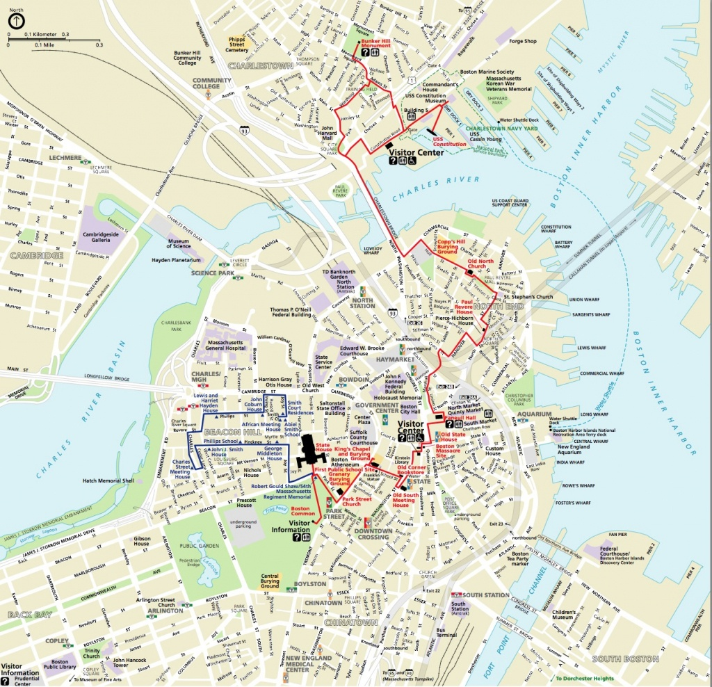 Map | Northendboston - Printable Map Of Boston Attractions