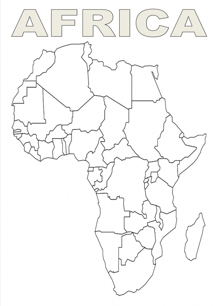 Map Of Africa Template | Silhouettes | Africa Outline, Map Outline - Free Printable Map Of Africa