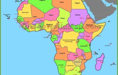 Map Of Africa With Countries And Capitals   Free Printable Map Of Africa With Countries