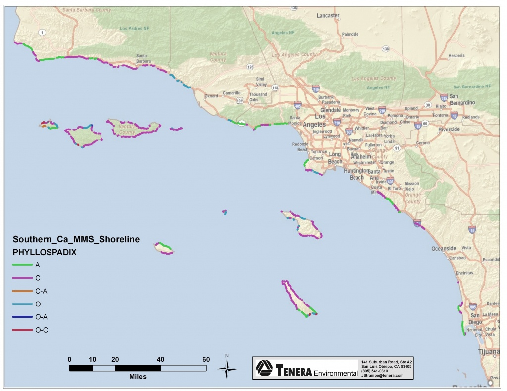 Map Of Beaches Along Southern California – Map Of Usa District - Map Of Southern California Coastline