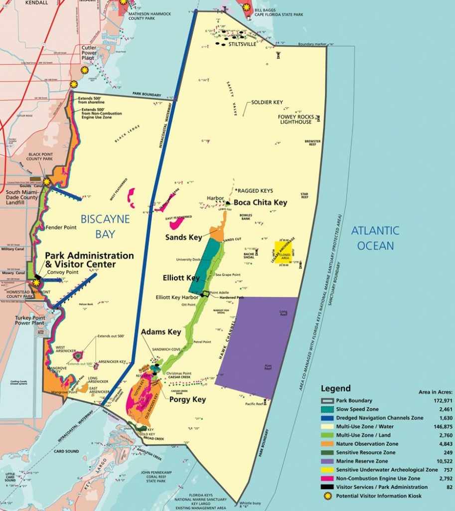 Map Of Biscayne Np | National Parks - Biscayne In 2019 | Biscayne - South Florida National Parks Map