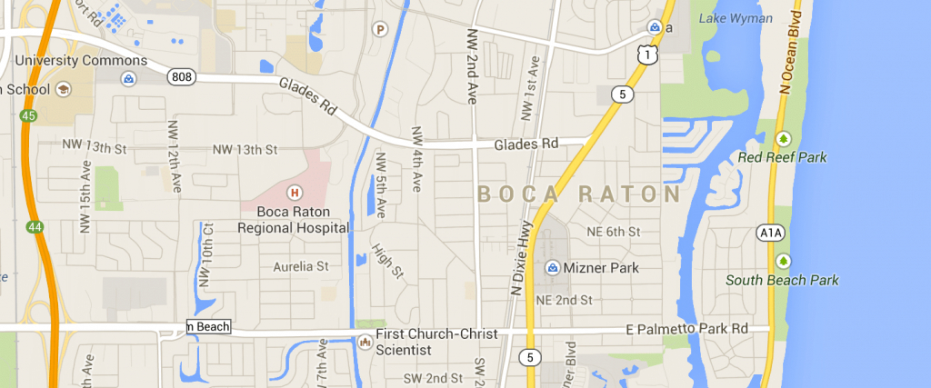 Map Of Boca Raton Fl | Compressportnederland - Boca Delray Florida Map