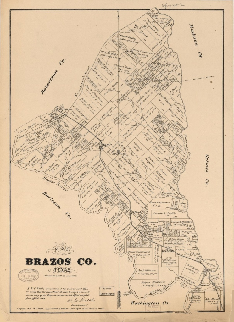 Map Of Brazos Co., Texas | Library Of Congress - Brazos County Texas Map