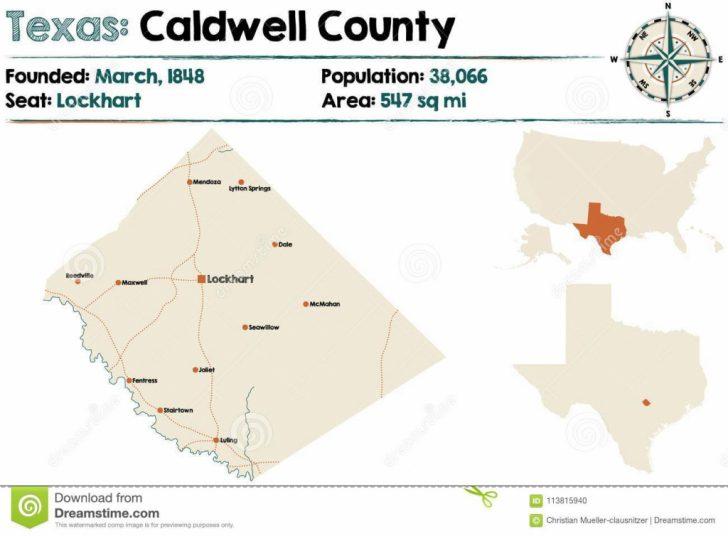 Caldwell Texas Map