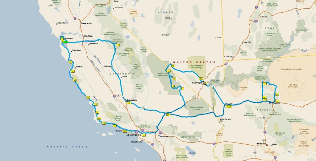 Map Of California Arizona Nevada – Map Of Usa District - Road Map Of California Nevada And Arizona