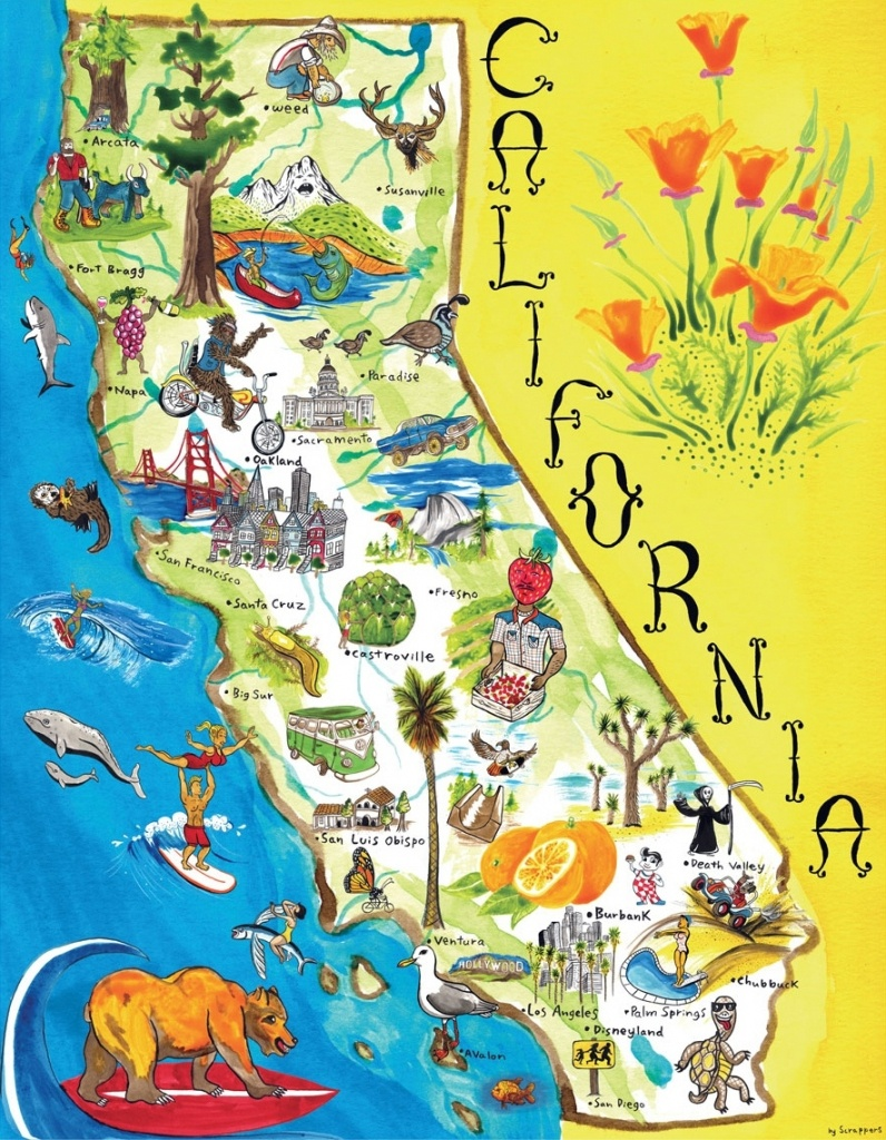 Map Of California. California Attraction Map – California Map - California Attractions Map