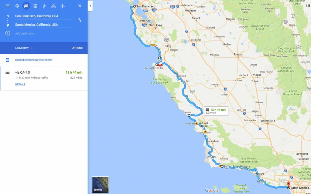 Map Of California Coast Hwy 1 Fresh Highway 1 Road Trip From San - Map Of La California Coast